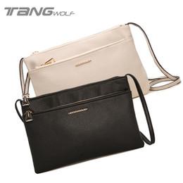 Wholesale Double Clutching - Wholesale-2016 New Women Shoulder Messenger Bags Double Zipper Decoration Crossbody Bag Envelope Clutch Bags Handbags Women Famous Brands
