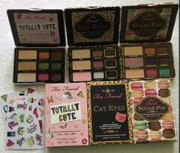 Wholesale Cute Makeup Brand - Hot item Famous Brand sugar pop cat eyes totally cute eyeshadow palette makeup sweet peach eye shadow cosmetics 1 set 9 colors free dhl