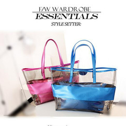 Wholesale Woman Beach Jelly Bags - Wholesale Fashion Bags Totes Cross Body And Handbag Transparent Jelly Beach Bags Tassel Daily Bags 4 Colors With High Quality