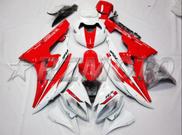 Wholesale R6 White Fairing Kit - 4 Free Gifts New Injection bike Fairing kit Fit for YAMAHA YZFR6 06 07 YZF R6 2006 2007 YZF600 yzfr6 06 07 ABS Fairings red white