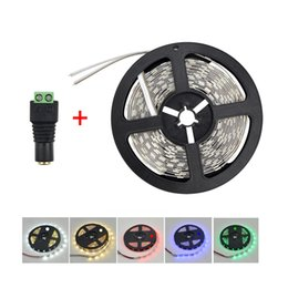 Wholesale More Brighter - Wholesale-5M 5630 DC12V String lighting More Brighter Than 3528 5050 LED Strip light + DC female for Christmas indoor home decoration