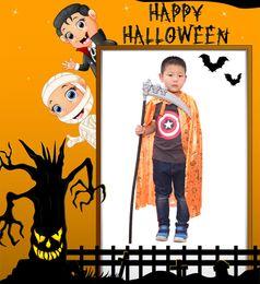 article plastique Promotion Arme plastique Halloween Les accessoires squelette fantôme Mountain Axe Demon Red Fork un dieu de la mort faucille les accessoires de décoration
