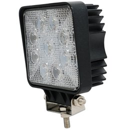 Wholesale Spotlight Bar White - Wholesale- Free shipping 27W square LED Work Light Bar 9 X 3w led chip Flood Spot Beam Spotlight Offroad Light Bar Fit ATV outdoor light