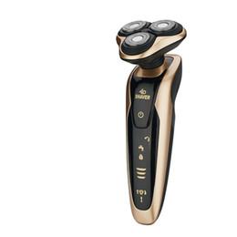 Wholesale Beard Knife - 2017 the latest 4 d three segment body wash beard knife male rechargeable electric shaver razor