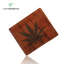 Wholesale Cheap Passport - Wholesale- 2016 new vintage personality novel Men's Wallet Purse solid leaf male short zipper pocket handbags card photo holder cheap gift
