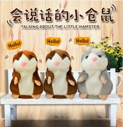 Wholesale Christmas Hamster - Talking Hamster Plush Toy Cute Speak Sound Record Hamster 15cm hamster pet talking record Mouse Plush Kids Toy KKA1507