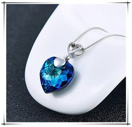 Wholesale Sapphire Sea Crystal - The winter sales creative jewelry fashion Necklace natural crystal Classic women Sea star Necklace engagement gift Christmas Gift