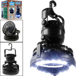 Lanterne de camping à LED portative avec ventilateur de plafond 2-IN-1 18 ventilateur à LED pour la randonnée en plein air, les pannes de pêche et les situations d'urgence ? partir de fabricateur