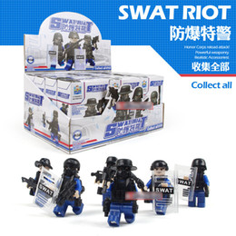 Wholesale Wholesale Police Supplies - SY city police series 6 PCS SET Children's assembling building block toy wholesale mini figure Dolls kids gift wholesale