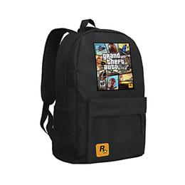 Deutschland 2016 GTA5 / GTA PC Spiele Mochilas Schule Kinder Rucksack Für Jugendliche Taschen Anime Tasche Mochila Umgebungs Infantil Animation Versorgung