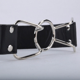 Wholesale Leather Sex Ladies - PU Leather Band Open Mouth Bite Mouth Gag O Ring for Lady Adult Games Pleasure Couples Flirting Sex Products Toys YP0070#Y5FY
