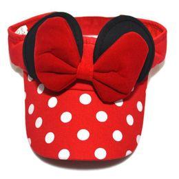 Wholesale Baby Bow Top - Fashion Mickey Children Empty Top Cap Baseball Cap Baby Hat Spring Summer Adjustable Sun Bow Girl Children Hats