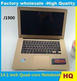 Wholesale Notebook Slim China - 14.1 inch ultrabook slim laptops Itel Celeron J1900 Quad-core 4GB 750GB HDD WIFI laptop notebook