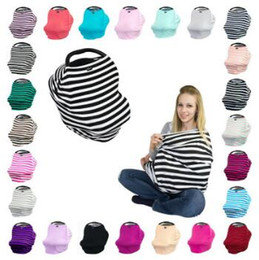 Wholesale Strollers Baby Seats - 22 Colors Multi-Use Baby Car Seat Cover Nursing Breastfeeding Shopping Cart High Chair Cover INS Stroller By Cover 10pcs lot CCA6900 6lot
