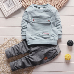 Wholesale Toddler Boy Green Pants - Toddler Kids Baby Boys Long Sleeve Top T-shirt +Pants Cotton Outfit 1-4Years