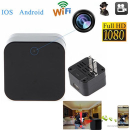 Wholesale Cell Phone Spy Cameras - WIFI Wireless Full HD 1080P SPY Hidden Camera Wall Charger Adapter DVR Video Recorder IP Camera Cam Camcorder Mini DV for Cell phone or PC