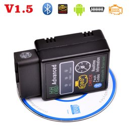 Wholesale Obd2 Diagnostic Trouble Code Reader - Wholesale- V1.5 OBDII OBD2 ELM327 Bluetooth mini diagnostic tools,Car fault code reader interface detector, code scanner Clear trouble