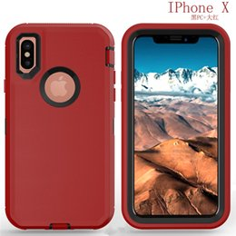 Wholesale Wholesale Defender Cases - For iphone 8 Hybrid defender case robot 3 in 1 box Rugged cases cover for iphone x 7 6 6s 8 plus 5s Sasmung s6 s7 edge s8 plus note 8