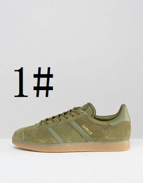 Wholesale Vintage Brown Shoes - High Quality 2017 Men Women Casual Suede GAZELLE VINTAGE OG 10 Colors Lightweight Walking racer Shoes Size eur36-44