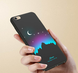Wholesale Iphone Nice Design Case - Nice Print Phone Cover Quality Moon Wolf Design Cartoon Soft TPU Matte Phone Case for iPhone 7 7plus 6 6s plus