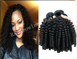 Wholesale Hair Extensions Nigeria - 8A aunty funmi hair bundles Indian uk Nigeria loose wave romance bouncy curls funmi hair Weft Human hair extension