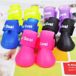 Wholesale Dog Shoes Wholesale - :Dog Shoes Waterproof Wear Resistant Cute Bootie Rubber Anti Slip Pet Supplies Soft S M L Mixed Colors