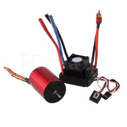 Wholesale Brushless Waterproof Car Esc - Mxfans Red RC1:10 Off-road Car N10049 45A Waterproof Brushless ESC with Motor 2 in 1