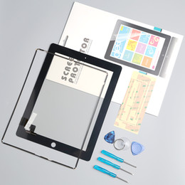 Wholesale Ipad Professional - 100% tested well Front Glass Replacement with Professional Repair Kit LCD Touch Screen Digitizer For iPad 2 with protector