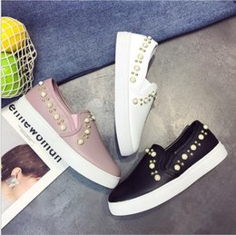 Wholesale Ma B - Trend rivets rubber sleeves flat down casual single shoes low to help Ma hair low with women shoes Le Fu shoes lazy