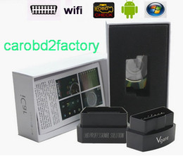 peugeot interface Australia - Factory Wholesales---Vgate icar3 WIFI ELM 327 Support All OBDII Protocols Interface 10pcs lot For Android  IOS PC with DHL Free Shipping