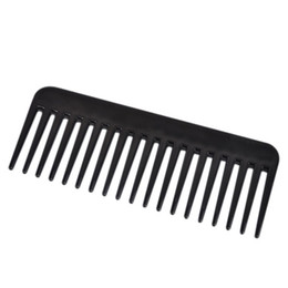 Wholesale Wide Tooth - 19 Teeth Black High Quality ABS Plastic Heat-resistant Large Wide Tooth Comb Detangling Wide Teeth Hairdressing Comb