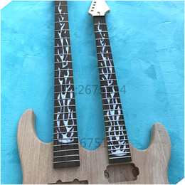 Wholesale Unfinished Electric Guitar Bodies - Free shipping.Hot!!! The latest two handed, unfinished electric guitar. Give away all the hardware. You deserve it!