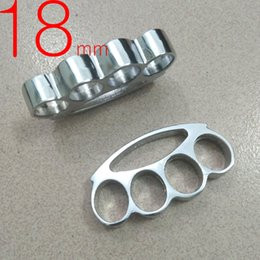 Wholesale Self Defense Brass Knuckles - Thick and heavy Thickness 18mm steel Brass Knuckles Fighting Knuckle Duster Powerful Self Defense Knuckles Mens Self-Defense fox tool 1pc