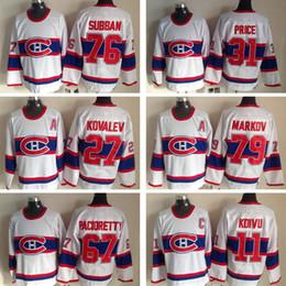 Wholesale Hockey Jerseys 79 - Montreal Canadiens jersey 11 Saku Koivu 79 Andrei Markov 31 Carey Price 27 Alexei Kovalev 67 Max Pacioretty Hockey Stitched Jerseys
