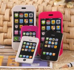 Iphone colorido on-line-Fofa Kawaii Jogos Eraser iphone borracha do telefone móvel Linda Borracha Colorida para Crianças Estudantes Crianças Item Criativo Presente