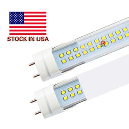 Wholesale 2835 Smd Led - LED T8 Tube 4FT 25w 28w 36W 2800LM SMD2835 192LEDS Light Lamp Bulb 4 feet 1.2m Double row 85-265V led lighting fluorescent