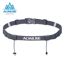 Wholesale motor holder - AONIJIE Unisex Triathlon Marathon Race Number Belt With Gel Holder Running Belt Cloth Belt Motor Running Outdoor sports