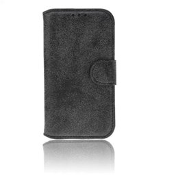 Wholesale Leather Flip Iphone 4s Cases - Retro Nubuck PU leather Card Flip Holder Stand Case Cover for iPhone 4 4s 5 5s 6 6s Plus No Package