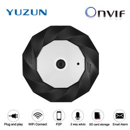 Wholesale Camera Fisheye For Android - Wifi IP Cam 3MP 3D VR 360 degrees Fisheye Panoramic audio web camera IR Night Vision for CCTV Home Security IP Camera