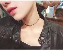 choker zubehör für frauen schwarz Rabatt Großhandel billig schwarz Seil Halsreifen Halskette Mode Frauen einfache Aussage Halsketten Halsreif für Damen Zubehör Halsreifen Schmuck