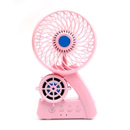 Wholesale Support For Batteries - C26 Portable Wireless Bluetooth Speaker 3 Mode Desk Fan 18650 Rechargeable Battery Inside TF Card Support