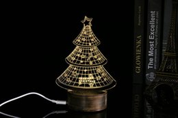 Wholesale Small Light Tree - 2016 Fashion 3D Transparent The Christmas Tree Small Night Light Novelty Items Small Desk Light Home Decorations 04