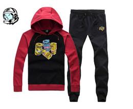 Wholesale Clubbing Pants Men - 2017 new arrival hip hop track suit BILLIONAIRE BOYS CLUB men's jogging suit autumn winter warm pullover hoodie quality BBC Top + pants