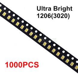 Wholesale White Led Technology - Wholesale- 1000pcs Ultra Bright LED SMD chip 1206 3020 smd White LED Chip Light Emitting Diode Lamp Surface Mount SMT Bead Technology 8-9lm