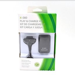 Wholesale Battery Charge Pack - Wireless Handle Battery Pack 2in1 Charging Kit 4800M Battery Pack for XBOX 360