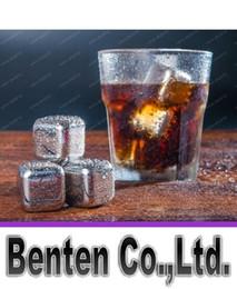 Wholesale Stainless Steel Whiskey Stones - Free Shipping Stainless Steel Whiskey Stones Ice Cubes Soapstone Glacier Cooler Stone LLFA