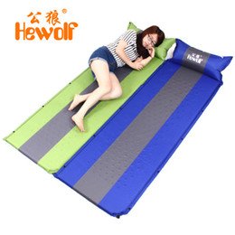 Wholesale Foam Thickness - Wholesale- Hewolf outdoor automatic inflatable pad camping supplies 3cm thickness memory foam mat moisture-proof stitching inflatable