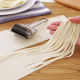 Wholesale Fda Manual - Stainless Steel Manual noddles pasta maker stainless steel noodle pressing making machines Spaghetti pasta cutter Home kitchen cooking tools