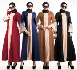 Vestidos casuales turcos online-Abaya turco lino mujeres Vestido musulmán Vestido islámico para mujeres robe vestido de Dubai vestido D189