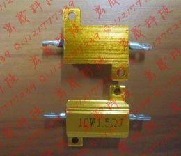 Wholesale Metal Shell Case Wirewound Resistor - Wholesale- RX24-10W 100R Power Metal Shell Case Gold Aluminium Case Wirewound Resistor 10W 100ohm 5% Automobile LED lamp resistors 100R 10W